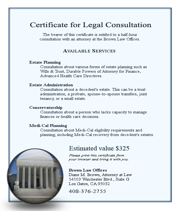 Free 30 Minute Legal Consultation for Estate Planning